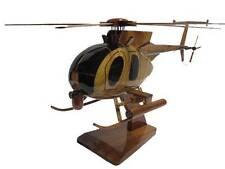 AH-6 AH-6M Little Bird Helicopter 160th Night Stalkers Gunship Wood Wooden Model