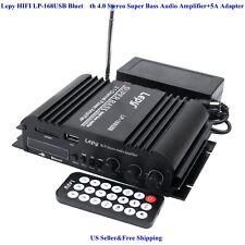 US Lepy HIFI LP-168USB BlueT 4.0 Stereo Super Bass Audio Amplifier+5A Adapter