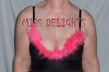 Color de rosa caliente Diva pluma Sujetador 34D BNWT Fiesta Prendas para Club nocturno Fiesta Prendas para club nocturno