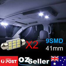 2x 41mm 5630SMD Canbus 9LED Interior Festoon Map Dome No.Plate Light White OZ