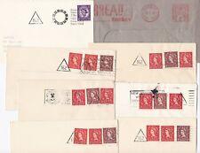 # 1940/66  7 CARDIFF =162= CODE CARDIFF SLOGAN COVERS & 1 ADVERTISING METER MARK