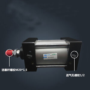 SC100-100 Bore: 100mm Stroke: 100mm Single Thread Rod Dual Action Air Cylinder