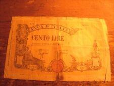 CENTO LIRE BANCA D'ITALIA NOTE