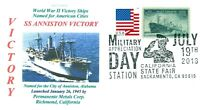 ANNISTON VICTORY Ship named City of Anniston, Alabama Color, Pictorial Postmark