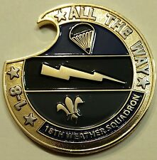 18th Weather Sq Special Operations Combat Weather Air Force Challenge Coin
