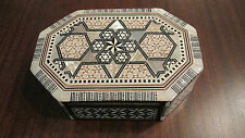 MOTHER OF PEARL INLAY WOODEN JEWELRY BOX