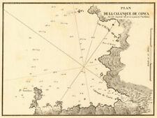 Plan de la calanque de Conca. Golfe de Valinco. CORSE CORSICA. Gauttier 1851 Car...