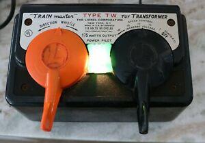 Vintage Lionel Type TW 175 Watt TRAINmaster Transformer - Works Great