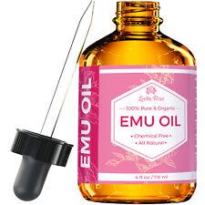 Pure Emu Oil by Leven Rose - Pure, Cold Pressed - 4 oz