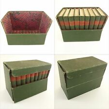 1896 boxed set,9 books,original publisher display case,Christian Herald Library