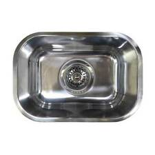 Small Bar Kitchen Sink Single Bowl Inset Over Under Mount 8L Stainless Steel CM1