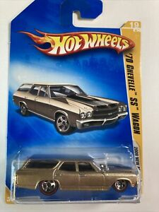 HOT WHEELS 09 New Models 70 Chevelle SS Wagon Metal flake Gold Redline Variation