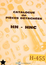 HEB HN-HNC, Pieces Detachees French, Parts Manual
