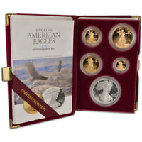 1995-W American Eagle 10th Anniversary Gold & Silver Proof Set