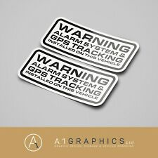 WARNING Alarm system PRINTED 115mm x2 CAR STICKER DECAL WINDOW BUMPER
