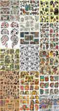 "Huge Tattoo Flash Collection, Lot, Traditional 132 Sheets 11x14"" Skulls, Eagles"