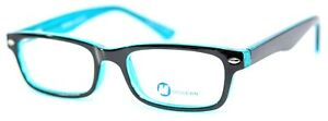 Modern Optical REMOTE Black/Blue Rectangular Full Rim Eyeglasses 48-18-135