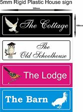 Personalised House Flat home name number sign plate /plaque gift idea