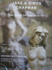 Jake et Dinos Chapman rare affiche. le viol de créativité. Art moderne Oxford 2003.