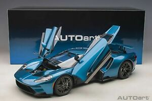 Autoart Ford GT 2017 Liquid Blue in 1/12 Scale New Release!