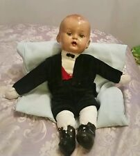 VERY RARE!! Webbers Dolls -  Vintage Composition Head & Cloth Body, arms &legs.