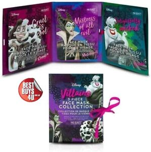 MAD BEAUTY DISNEY VILLAINS FACE MASK COLLECTION 3 PACK