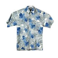 Tori Richard Mens Small Hawaiian Button Up Camp Shirt Short Sleeve Floral Cotton
