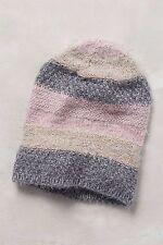 8099169c1e00d Anthropologie Metallic Stripe Beanie One Size Pink Hat NWT