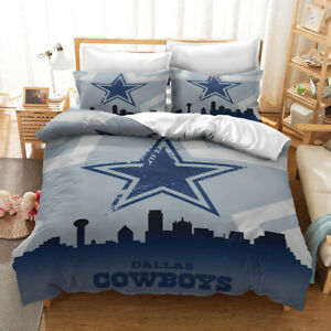 Dallas Cowboys City View Bedding Set 3PCS Duvet Cover Pillowcase Comforter Cover