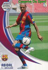 062 ERIC ABIDAL FRANCE FC.BARCELONA TARJETA CARD MEGA CRACKS LIGA 2008 PANINI