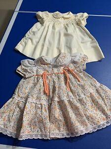 Toddler Jumper PINAFORA DRESS Cotton Dress Cherries Dress Sun Dress Girl\u2019s Dress 12-18 months