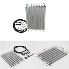 Aluminum 8-Row Remote Transmission Oil Cooler/Auto-Manual Radiator Converter Kit