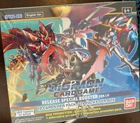 Digimon Card Game Starter Deck Red Blue Yellow EnglishBUNDLE + 1.5 Booster Box