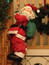 3' Santa Clause Roof Climber w/Rope, Outdoor Christmas Decor