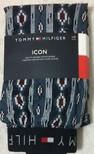Tommy Hilfiger Icon Slim Fit  Woven Boxer Large 36-38  Blue Designs   (8679)