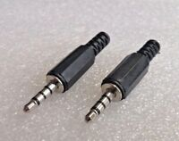 "1 Pair 4 Pole 3.5mm Jack Plug Connector - TRRS (1/8 Inch"")"