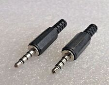 """1 Pair 4 Pole 3.5mm Jack Plug Connector - TRRS (1/8 Inch"""")"""