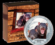 2013 $1 Endangered & Extinct Series – Tasmanian Devil 1oz Silver Proof Coin
