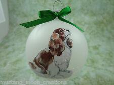 D031 Hand-made Christmas Ornament dog - Cavalier King Charles Spaniel - Blenheim