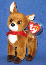 TY CHESTNUT the REINDEER BEANIE BABY - MINT with MINT TAG