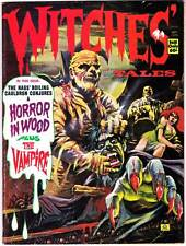 WITCHES TALES September 1973 - B&W horror magazine, mummy cover, Carl Burgos
