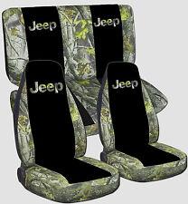 1997-2002 Jeep Wrangler Seat Covers / Camo 87 Black Camo 87 DESIGN Front & Rear