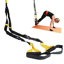 Suspension Bands Crossfit Trainer Yoga Straps Kit-Body Weight Exercise MMA yelow