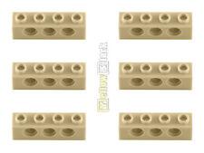 6x LEGO® Technic 3701 1x4 Lochstein Lochbalken beige sandfarben tan NEU