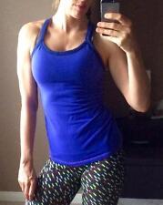 LuLulemon Tank Top Mesh Yoga Athletic Built In Bra Blue Purple 2/XS Sport Gym