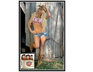 Lonestar Beer Cowgirl In Pink Top Refrigerator / Tool Box Magnet
