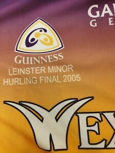 Wexford Minor Leinster Hurling Final GAA Gaelic Top Jersey Shirt Size Large L
