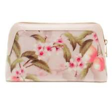 Ted Baker Women's Beige blonde light pink cosmetic Make up bag Handbag New