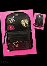 Victoria's Secret Runway Patch City Backpack *Bling Sequin* Full Size *NWT*
