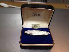 DIAMOND CUT SILVER METAL TIE BAR FROM SWANK-----------------e & m